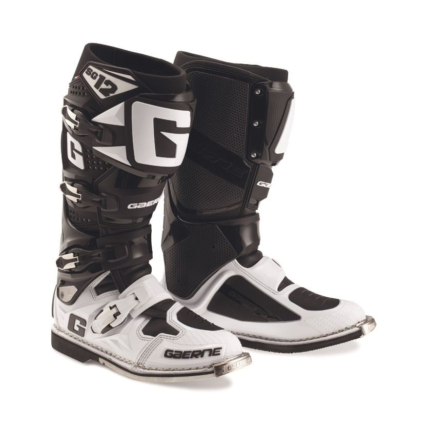 Bottes cross Gaerne SG12 BLACK WHITE 2020