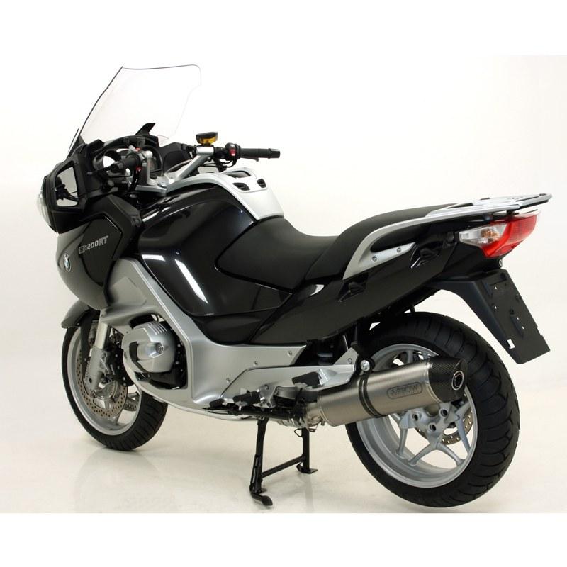 Silencieux Arrow Titane Maxi race-tech embout carbone