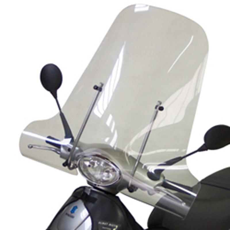 Pare Brise Bullster Haute Protection Noir Opaque +62cm