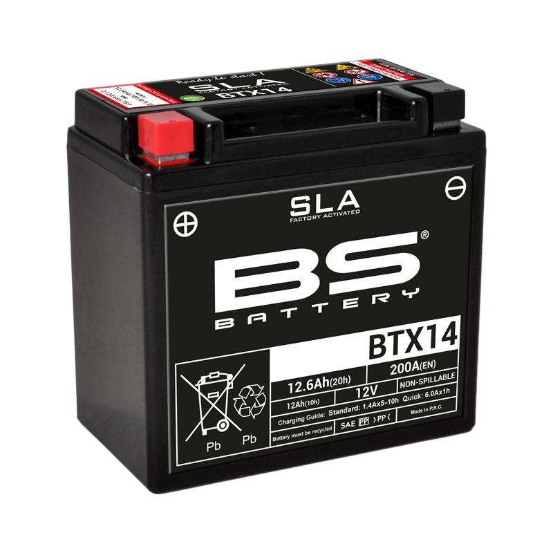 Batterie BS Battery SLA YTX14-BS ferme Type Acide Sans entretien/prête à l'emploi