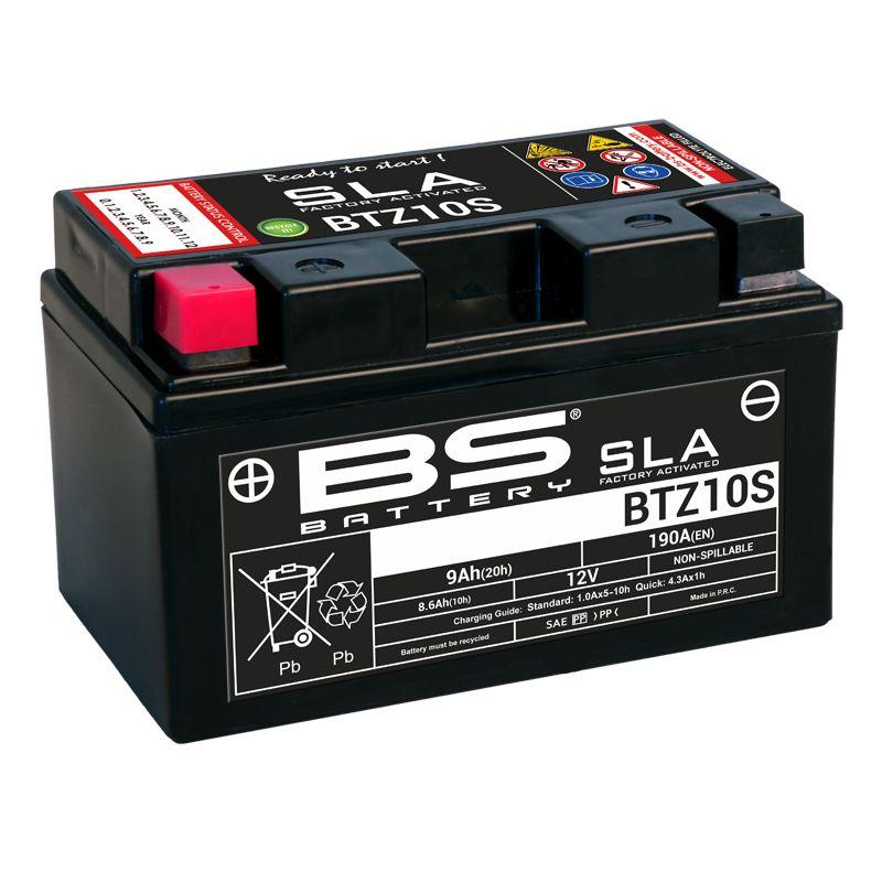 Batterie BS Battery SLA YTZ10S ferme Type Acide Sans entretien/prête à l'emploi