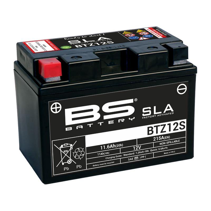 Batterie BS Battery SLA YTZ12S ferme Type Acide Sans entretien/prête à l'emploi