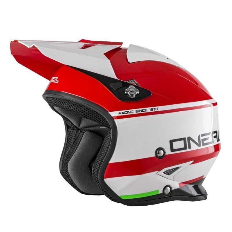 Casque Oneal Slat Crimson Red White Glossy