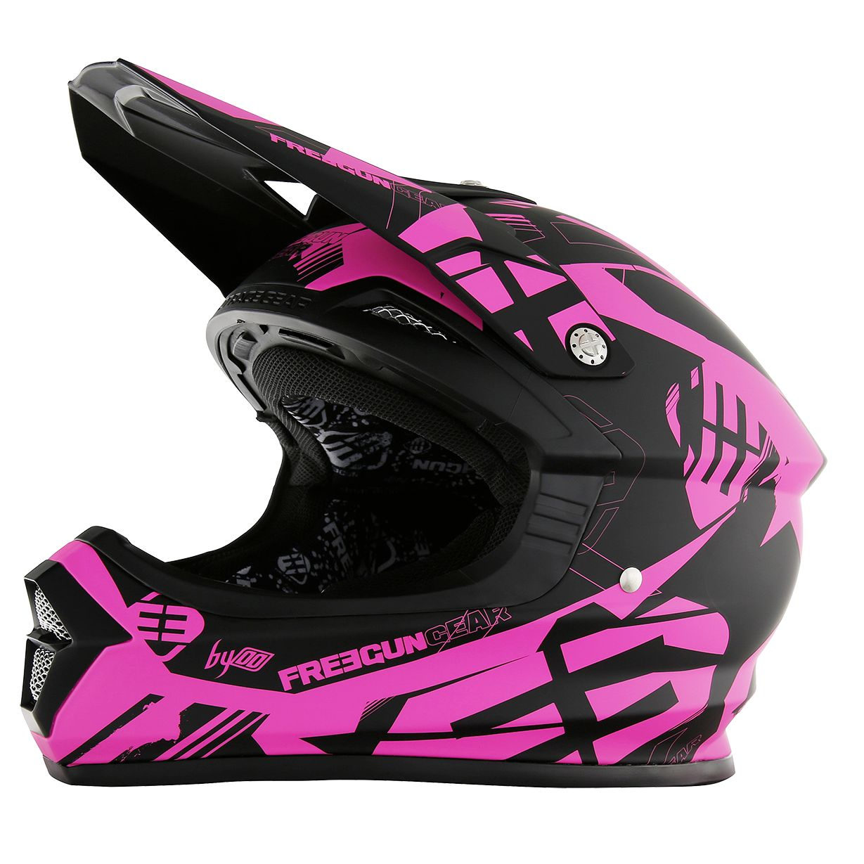 Casque cross Shot destockage XP4 LINK NEON ROSE MAT  2017