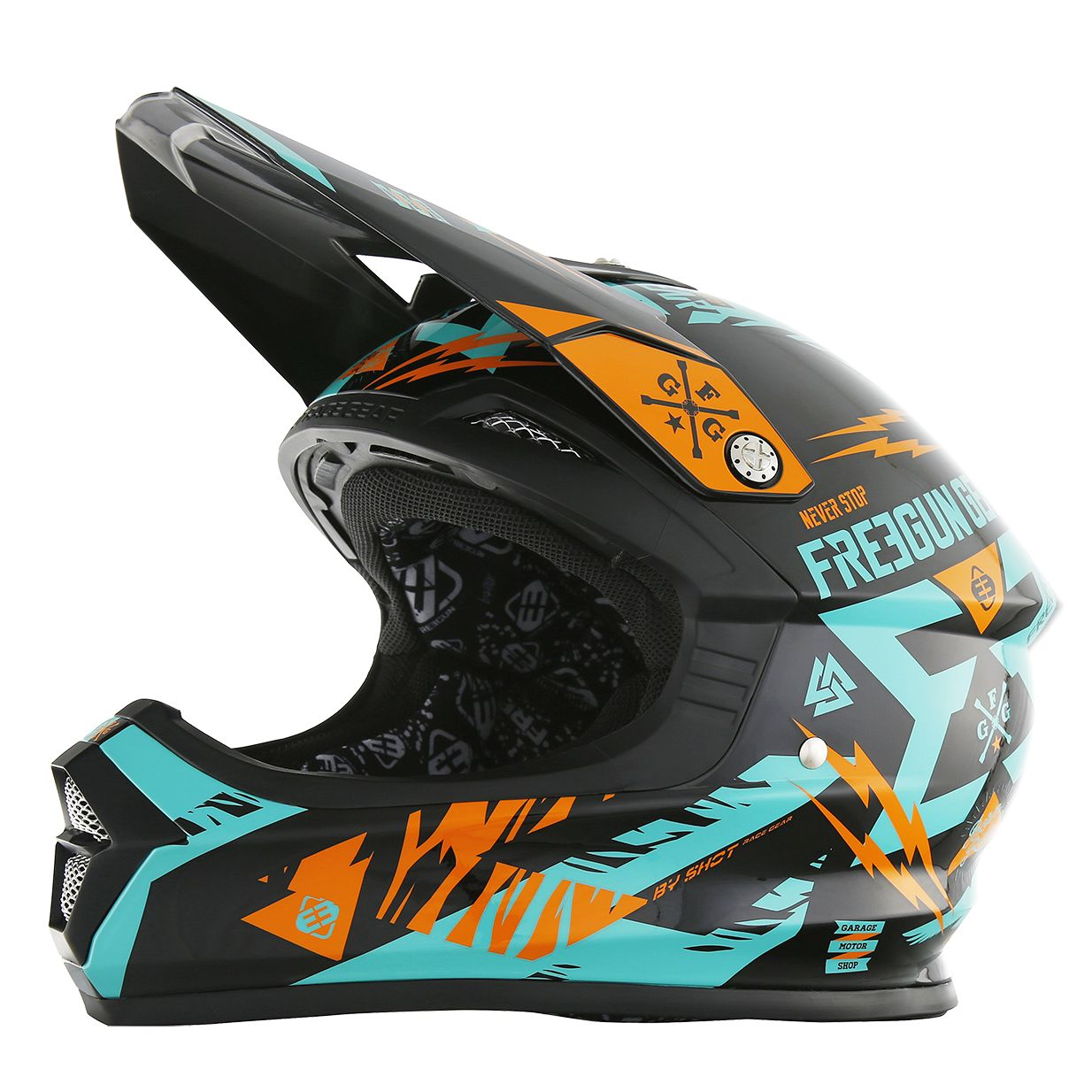 Casque Cross Shot Xp4 Trooper Mint Orange Enfant