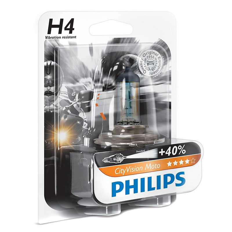 Ampoule Philips CITY VISION H4 12V 60/65W P43T-38