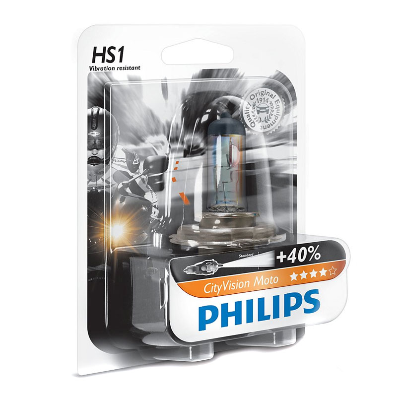 Ampoule Philips City Vision Moto Hs1 12v 35/35w Px43t