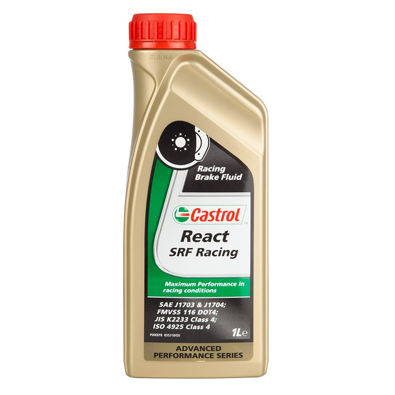 liquide de frein castrol react srf racing 1 litre huiles lubrifiants. Black Bedroom Furniture Sets. Home Design Ideas