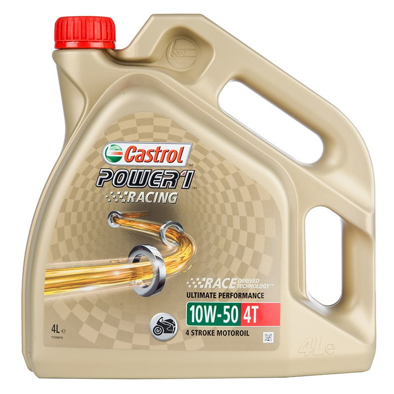 huile moteur castrol power 1 racing 4t 10w 50 4 litres huiles lubrifiants