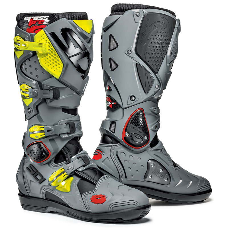 bottes cross sidi destockage crossfire 2 srs noir gris jaune 2017 enduro. Black Bedroom Furniture Sets. Home Design Ideas