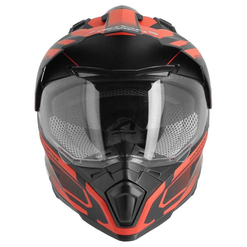matt army M Astone Helmets Casque int/égral 3 en 1 Casque moto homologu/é en polycarbonate Casque de moto crossmax graphic Shaft