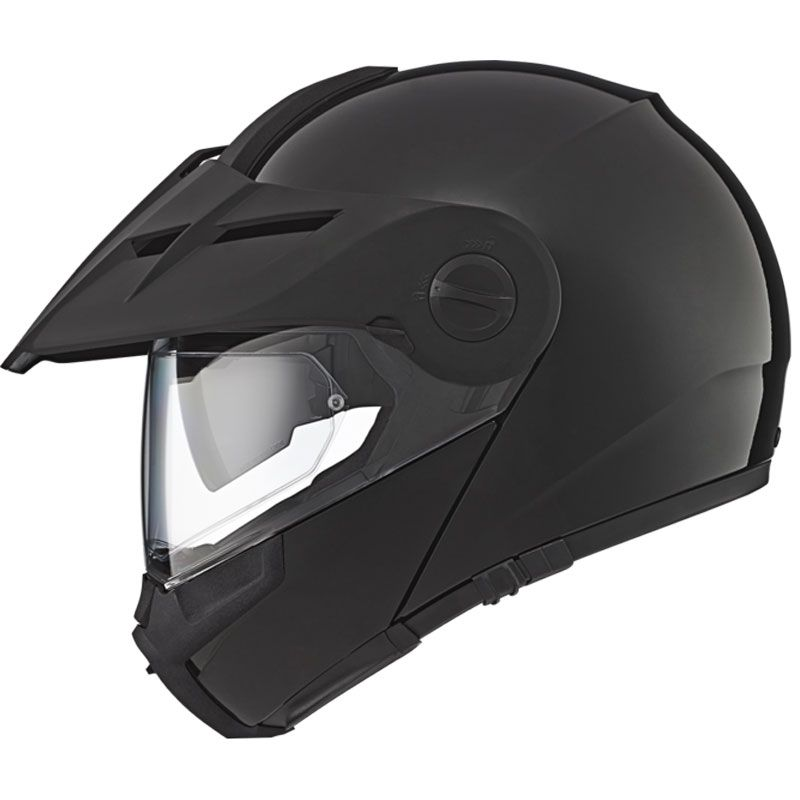 casque schuberth e1 noir brillant casque modulable. Black Bedroom Furniture Sets. Home Design Ideas