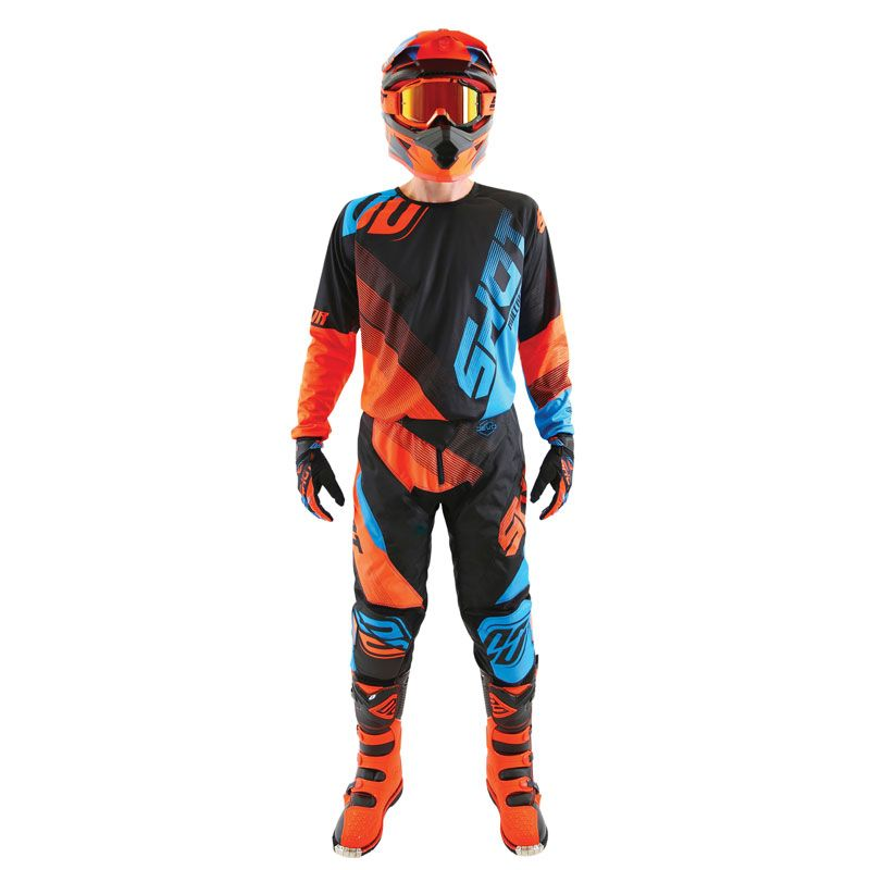Pantalon cross Shot DEVO ULTIMATE - BLUE NEON ORANGE 2019