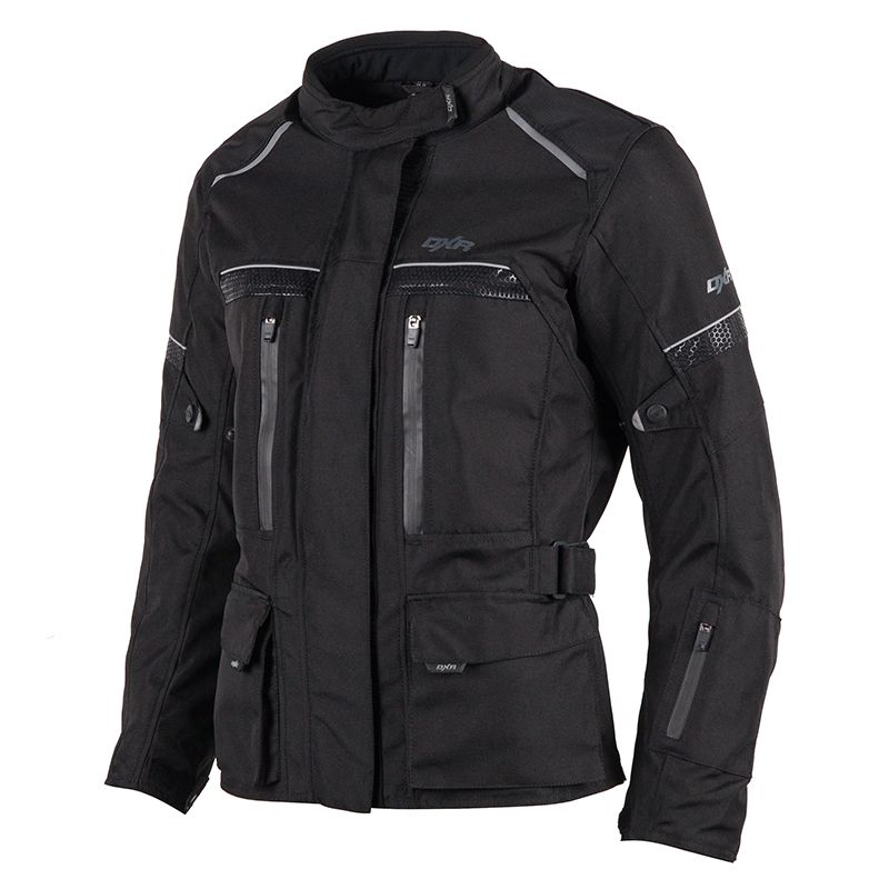 VESTE MOTO FEMME DXR ROADTRIP taille 34, polyester noir