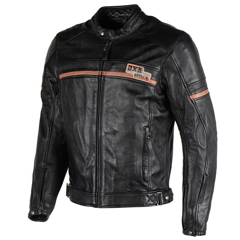 Blouson cuir DXR Tredici  Dxr0274-black-1