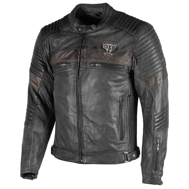 Blouson cuir DXR Chuck Dxr0276-blackbrown-1