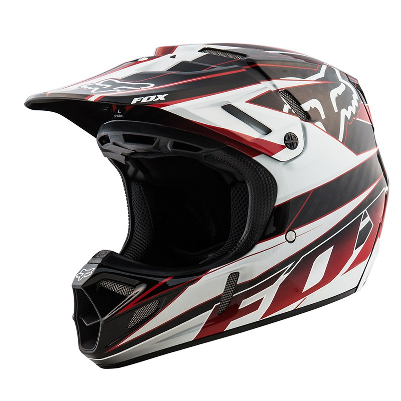 casque moto cross fox v4