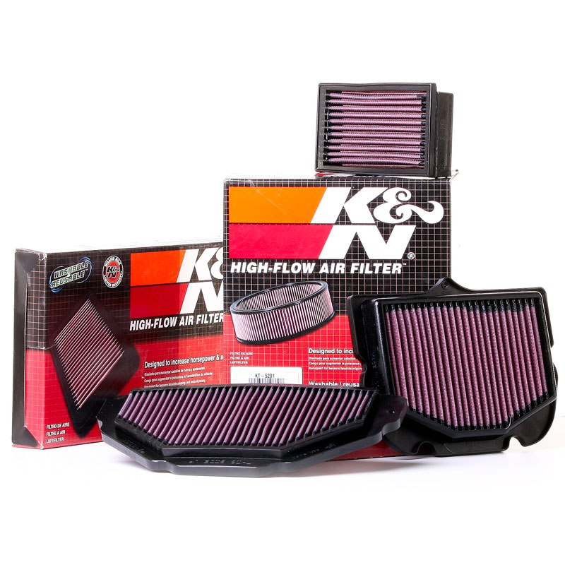 filtre air k n racing filtres moto