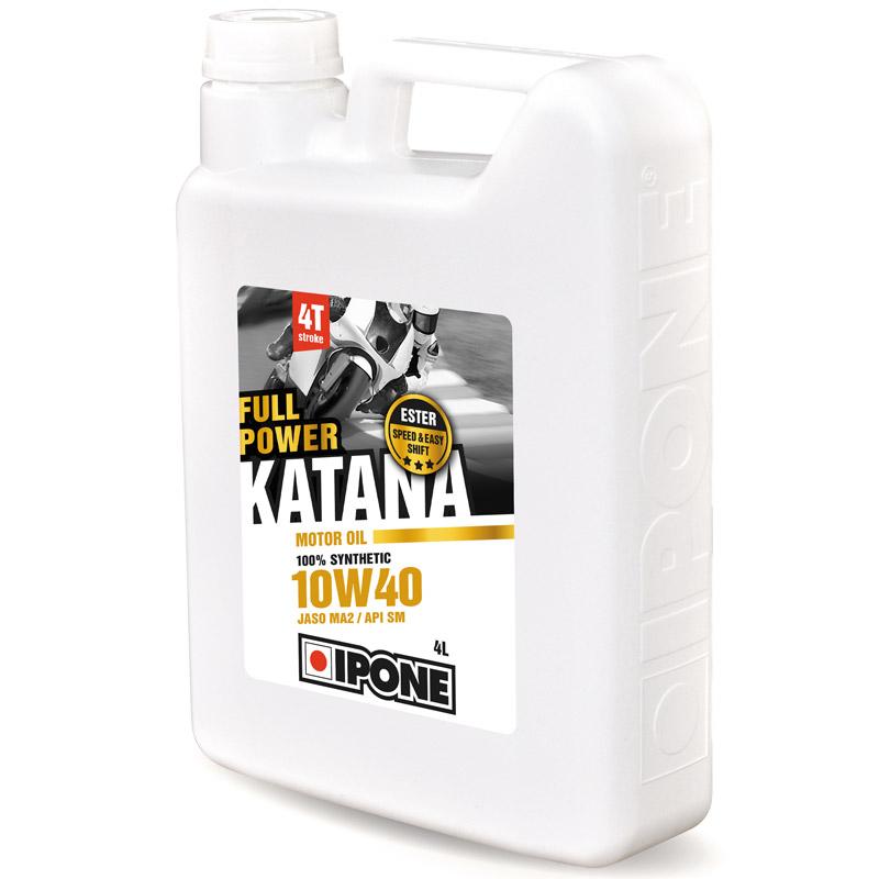 huile moteur ipone full power katana 10w40 100 synth se 4 litres huiles lubrifiants. Black Bedroom Furniture Sets. Home Design Ideas