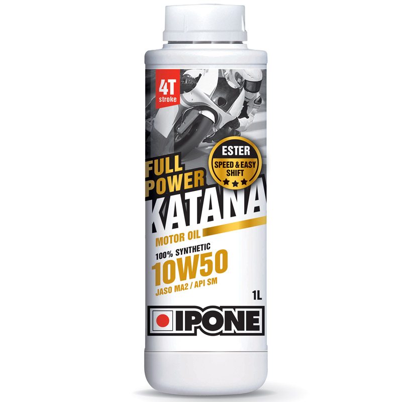 huile moteur ipone full power katana 10w50 100 synth se 1 litre huile spray entretien. Black Bedroom Furniture Sets. Home Design Ideas