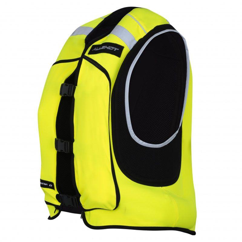 gilet airbag allshot airv2 fluo jaune fluo blouson et veste. Black Bedroom Furniture Sets. Home Design Ideas