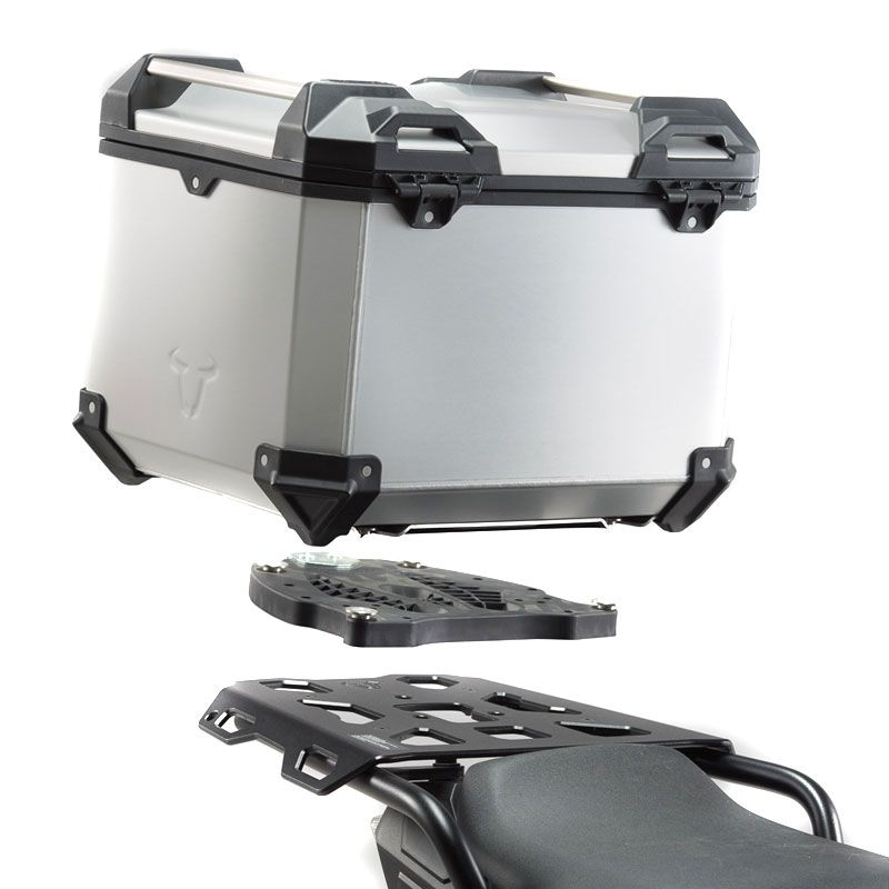 Top case SW-MOTECH KIT COMPLET TRAX ADV GRIS 38 L