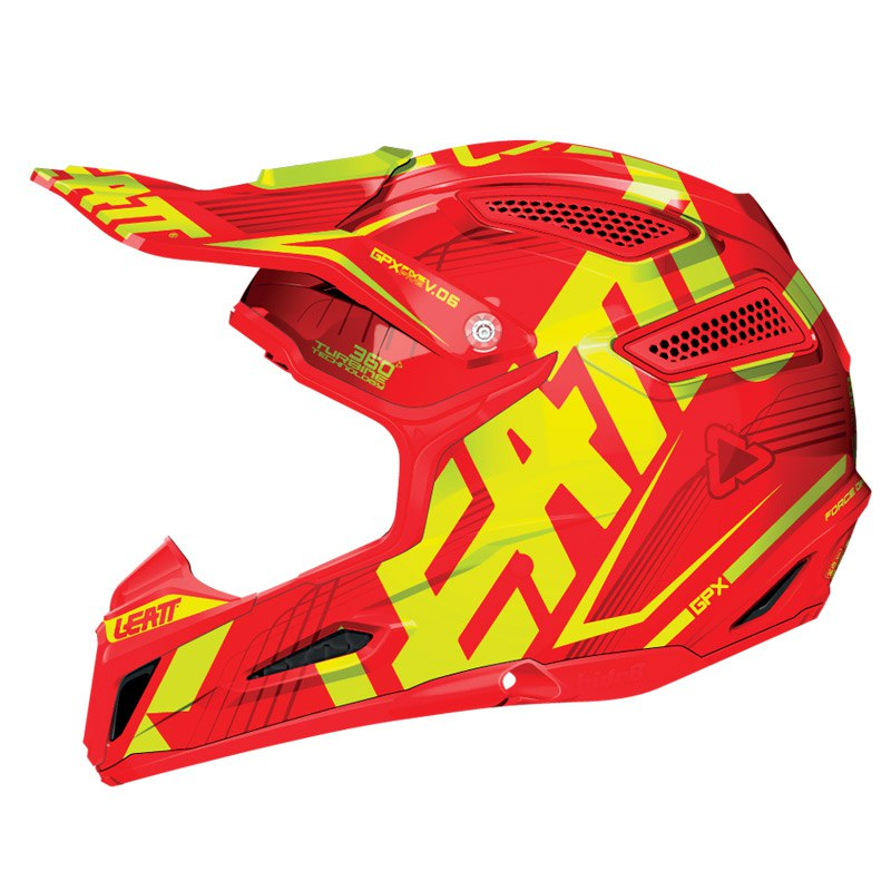 Casque Cross Leatt Gpx 5.5 Composite Jr - Rouge/jaune
