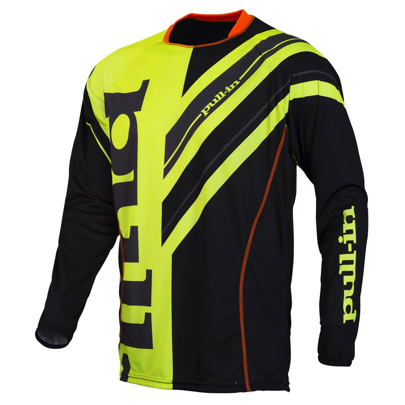 Maillot Cross Pull-in Frenchy - Jaune Fluo/noir