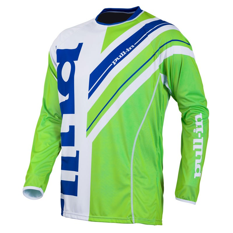 Maillot Cross Pull-in Frenchy Blanc/vert