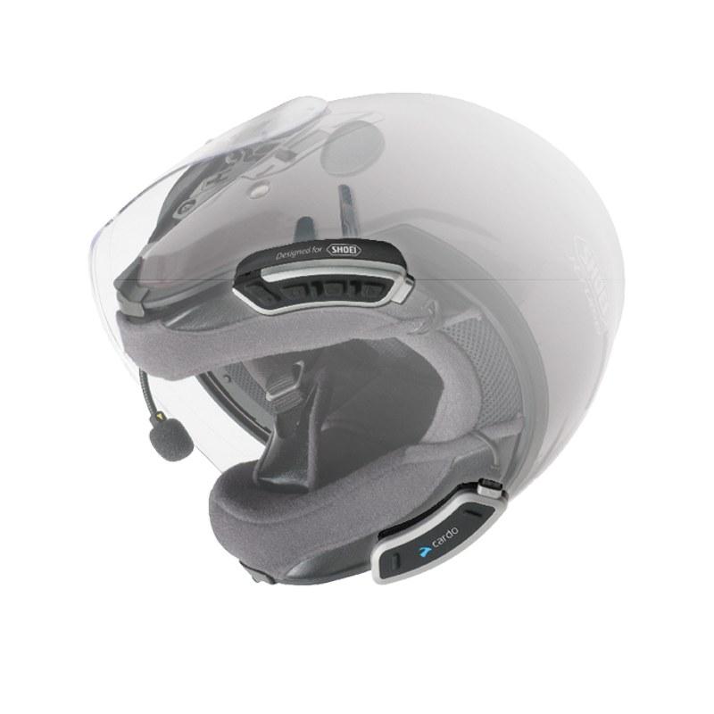 kit mains libres cardo bluetooth pour casque shoei sho 1 solo high tech moto. Black Bedroom Furniture Sets. Home Design Ideas