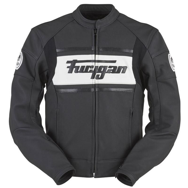 Blouson Furygan Houston Amo Ii - Noir Blanc