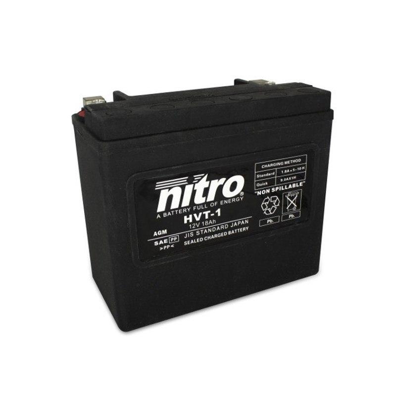 Batterie Nitro Hvt 01 Agm Ferme Harley Oe 65989-97 Type Acide Sans Entretien