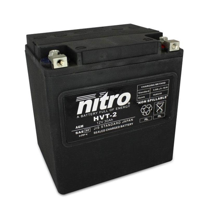 Batterie Nitro Hvt 02 Agm Ferme Harley Oe 66010-97 Type Acide Sans Entretien