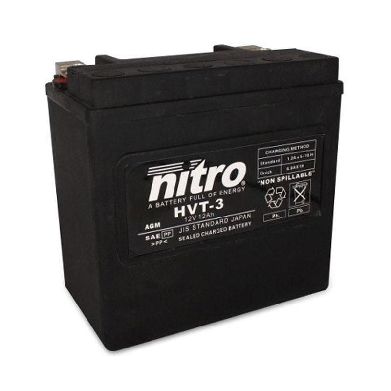 Batterie Nitro Hvt 03 Agm Ferme Harley Oe 65958-04 Type Acide Sans Entretien