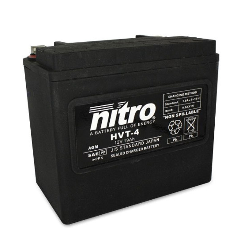 Batterie Nitro Hvt 04 Agm Ferme Harley Oe 65989-90 Type Acide Sans Entretien