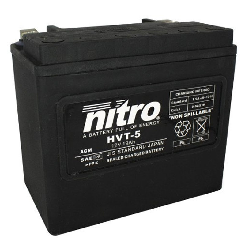 Batterie Nitro Hvt 05 Agm Ferme Harley Oe 65991-82 Type Acide Sans Entretien
