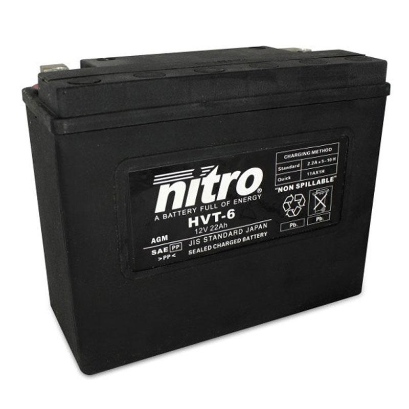 Batterie Nitro Hvt 06 Agm Ferme Harley Oe 66010-82 Type Acide Sans Entretien