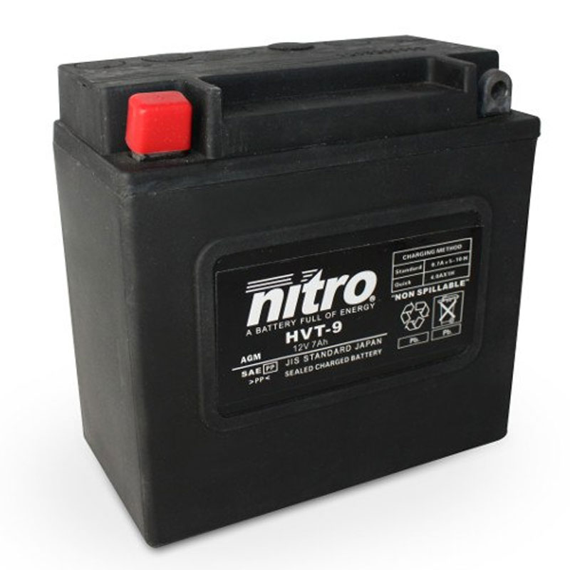 Batterie Nitro Hvt 08 Agm Ferme Harley Oe 65948-00 Type Acide Sans Entretien