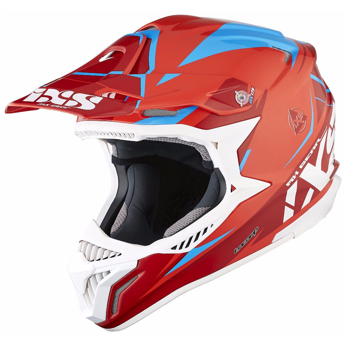 Casque Cross Ixs Hx179 Flash - Rouge Bleu