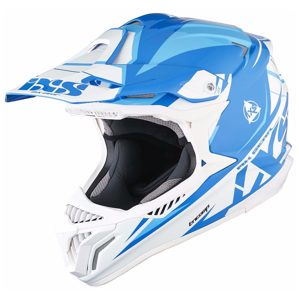 Casque Cross Ixs Hx179 Flash - Bleu Blanc