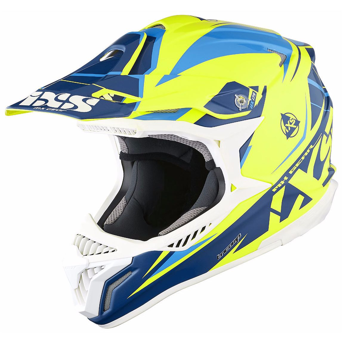Casque Cross Ixs Hx179 Flash - Jaune Bleu