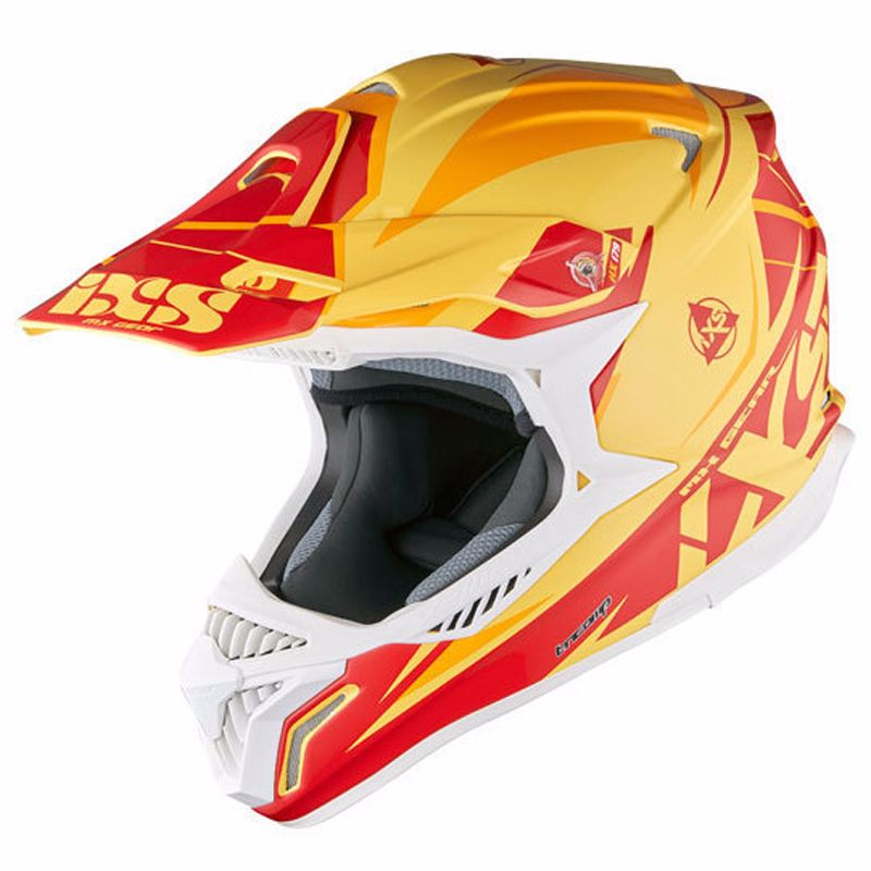 Casque Cross Ixs Hx179 Flash - Jaune Orange Rouge