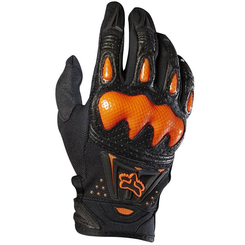 Gants cross Fox destockage BOMBER - BLACK ORANGE 2019