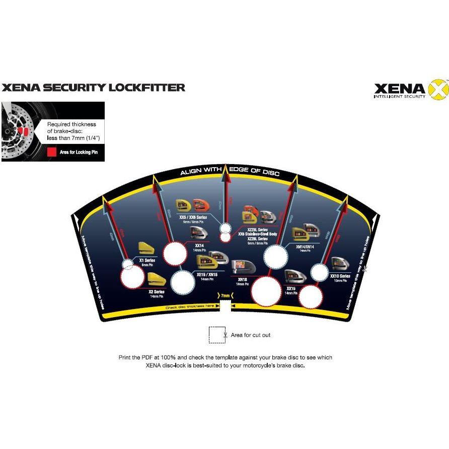 Antivol XENA Bloque disque Alarme XX10 SRA