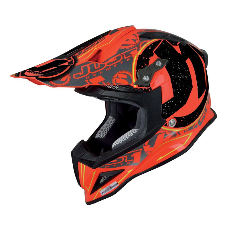 Casque Cross Just1 J12 - Stamp Rouge