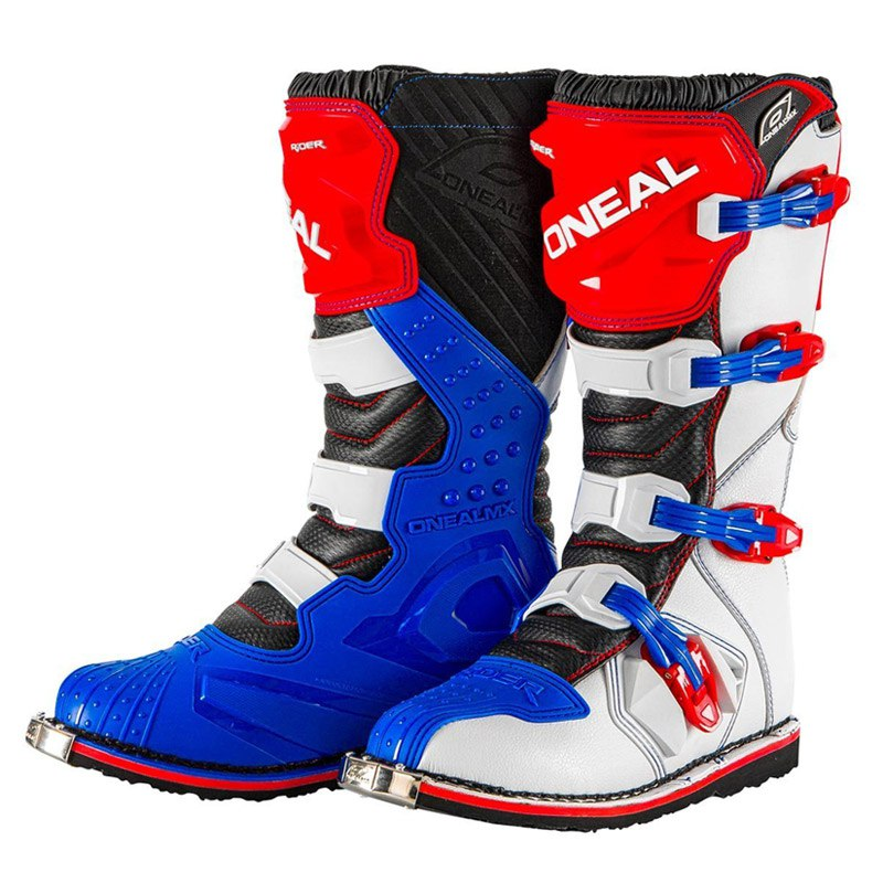 Bottes cross O'Neal RIDER - BLUE RED WHITE 2020