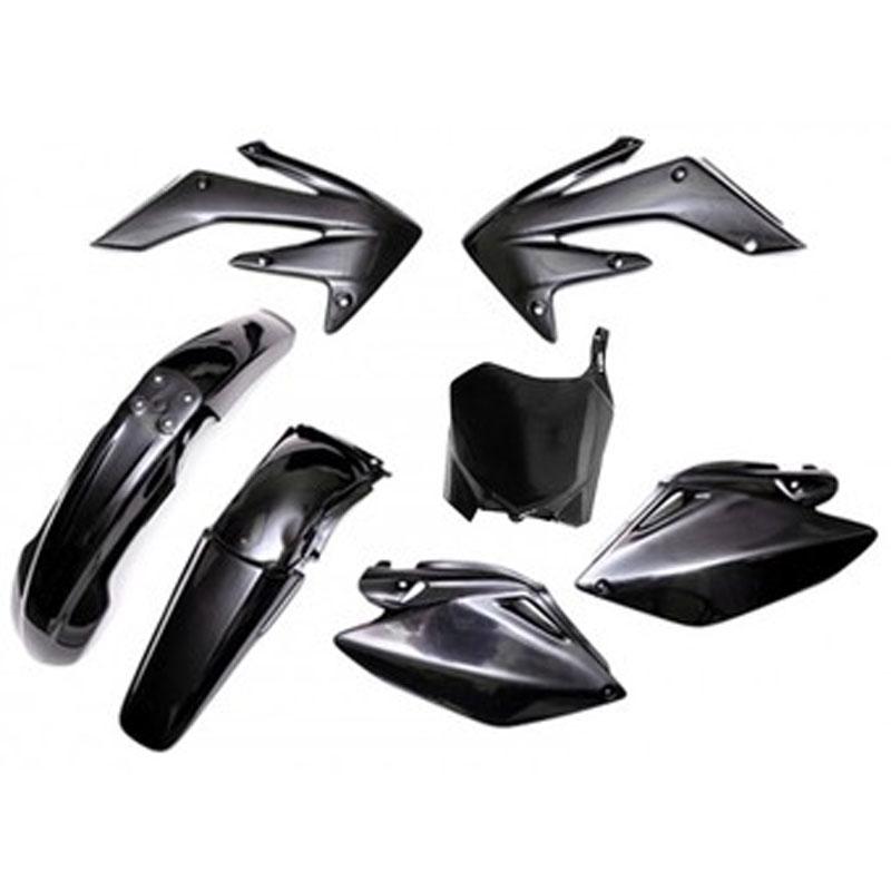 kit plastiques ufo noir partie cycle moto cross. Black Bedroom Furniture Sets. Home Design Ideas