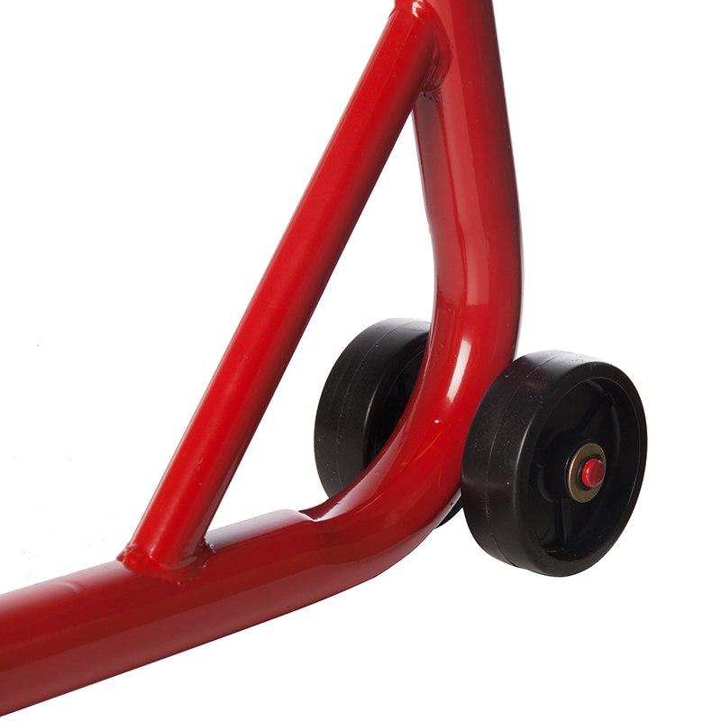 Béquille KOOROOM Arrière Rouge avec support en V