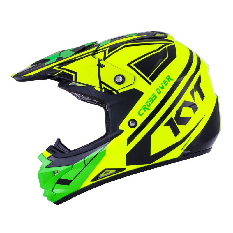 Casque Cross Kyt Cross Over K Time Jaune Vert Fluo