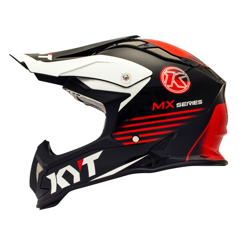 Casque Cross Kyt Strike Eagle K-mx Noir Rouge